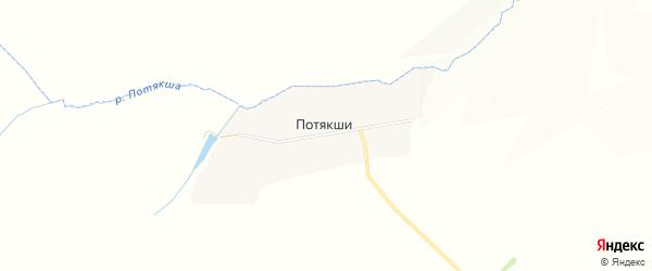 Карта села Потякши в Мордовии с улицами и номерами домов