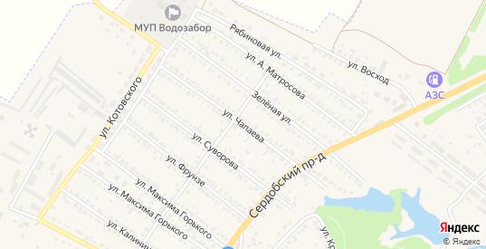 Улица Чапаева в Ртищево с номерами домов на карте. Спутник и схема онлайн