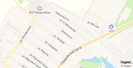 Зеленая улица в Ртищево с номерами домов на карте. Спутник и схема онлайн