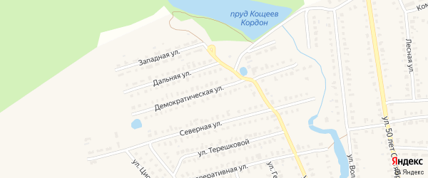Демократическая улица на карте Первомайска с номерами домов