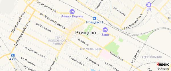 Территория Район гаражей ул Сердобский тупик на карте Ртищево с номерами домов