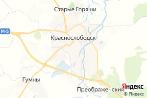 Карта г. Краснослободск Республика Мордовия