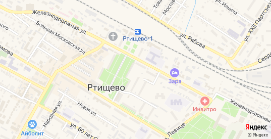 Ульяновская улица в Ртищево с номерами домов на карте. Спутник и схема онлайн