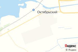 Карта пос. Октябрьский Волгоградская область