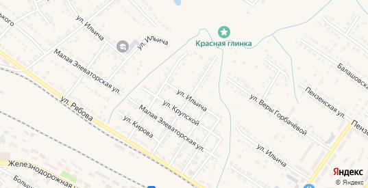 Улица Ильича в Ртищево с номерами домов на карте. Спутник и схема онлайн