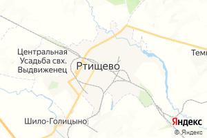 Карта г. Ртищево Саратовская область