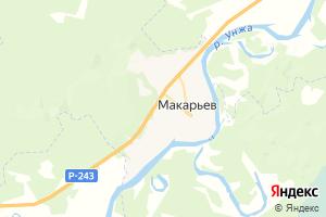 Карта г. Макарьев Костромская область