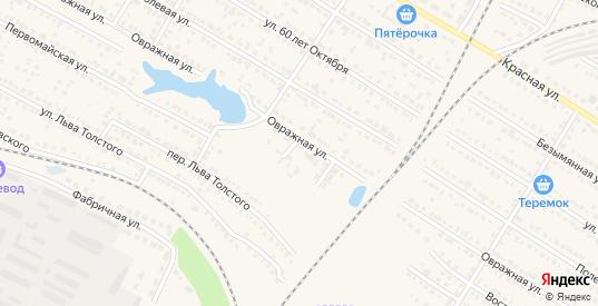 Приовражный переулок в Ртищево с номерами домов на карте. Спутник и схема онлайн