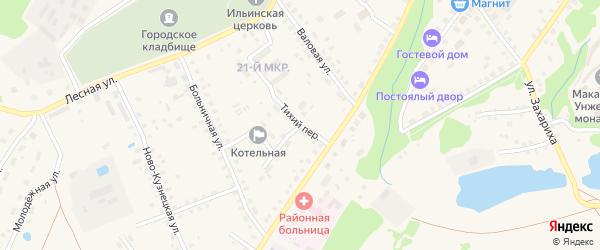 Тихий переулок на карте Макарьева с номерами домов
