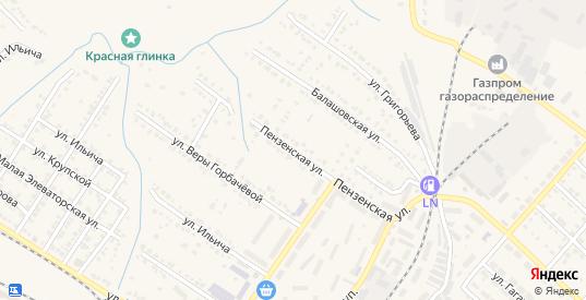 Пензенская улица в Ртищево с номерами домов на карте. Спутник и схема онлайн