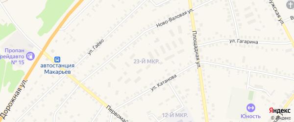 23-й микрорайон на карте Макарьева с номерами домов
