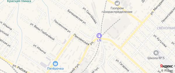 Сердобский переулок на карте Ртищево с номерами домов