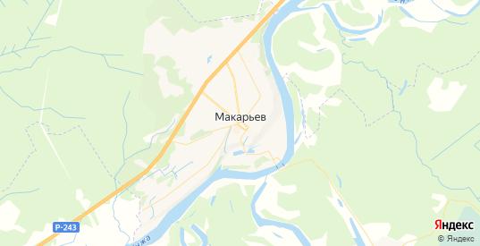 Карта Макарьева с улицами и домами подробная. Показать со спутника номера домов онлайн
