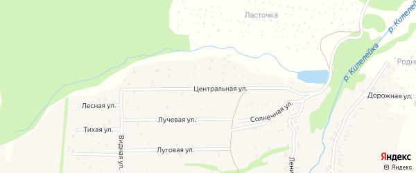 Центральная улица на карте территории Оринков Нижегородской области с номерами домов