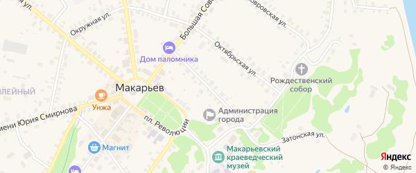 Пролетарская улица на карте Макарьева с номерами домов