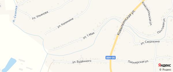 1 Мая улица на карте села Троицка Мордовии с номерами домов