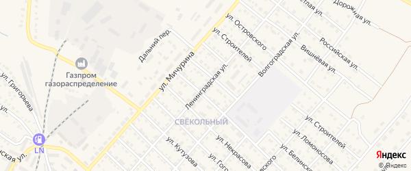 Ленинградская улица на карте Ртищево с номерами домов