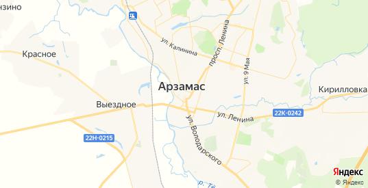 Карта Арзамаса с улицами и домами подробная. Показать со спутника номера домов онлайн