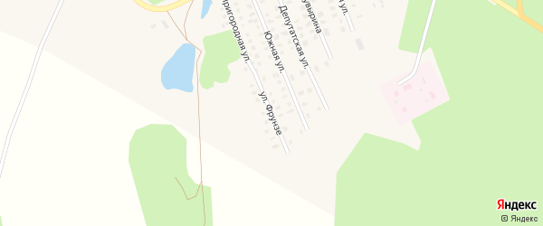 Улица Фрунзе на карте Первомайска с номерами домов