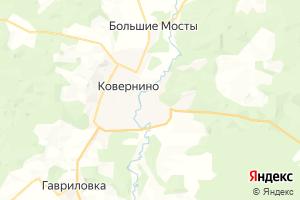 Карта пос. Ковернино Нижегородская область