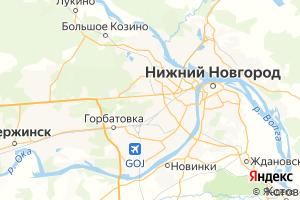 Карта г. Нижний Новгород Нижегородская область