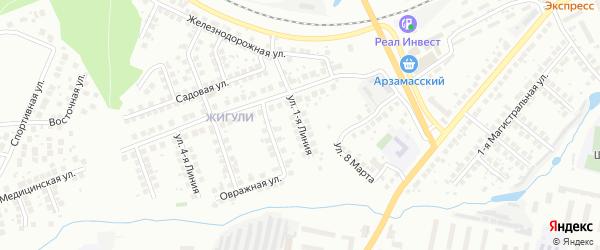 1-я линия на карте территории САДОВОДЧЕСКОГО НЕКОММЕРЧЕСКОГО ТОВАРИЩЕСТВА N31 с номерами домов