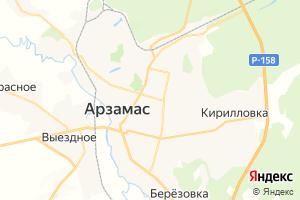 Карта г. Арзамас Нижегородская область