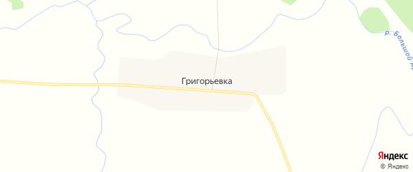 Карта деревни Григорьевки в Саратовской области с улицами и номерами домов