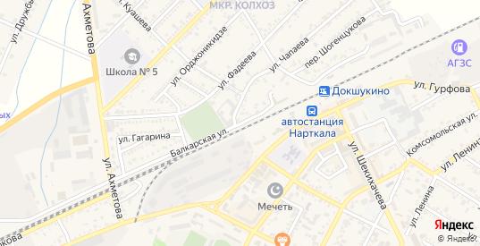 Балкарская улица в Нарткале с номерами домов на карте. Спутник и схема онлайн