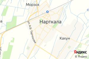Карта г. Нарткала Кабардино-Балкарская Республика