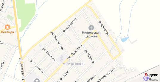 Улица Фрунзе в Нарткале с номерами домов на карте. Спутник и схема онлайн