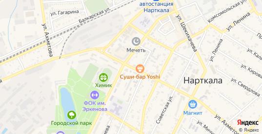 Улица Ахметова М.Х. в Нарткале с номерами домов на карте. Спутник и схема онлайн