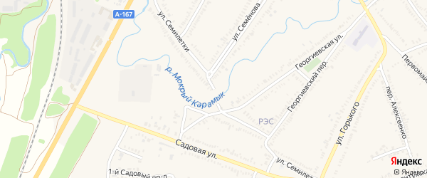Улица Семилетки на карте Зеленокумска с номерами домов