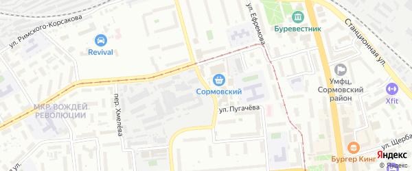 Базарная улица на карте Нижнего Новгорода с номерами домов