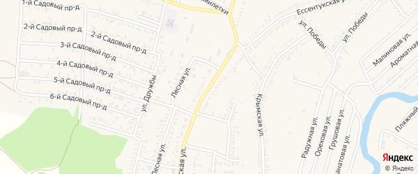 Ессентукская улица на карте Зеленокумска с номерами домов