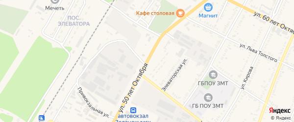 Улица 50 лет Октября на карте Зеленокумска с номерами домов