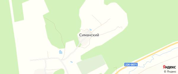 Карта Симанского поселка города Первомайска в Нижегородской области с улицами и номерами домов