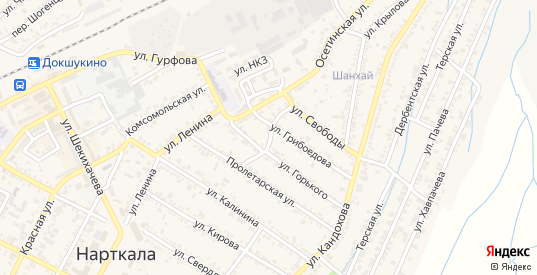 Заречная улица в Нарткале с номерами домов на карте. Спутник и схема онлайн