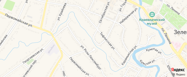 Улица Горького на карте Зеленокумска с номерами домов
