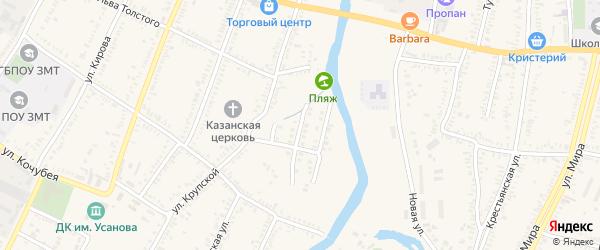 Переулок Крупской 2 линия на карте Зеленокумска с номерами домов