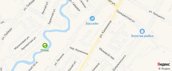 Красноармейский переулок на карте Зеленокумска с номерами домов