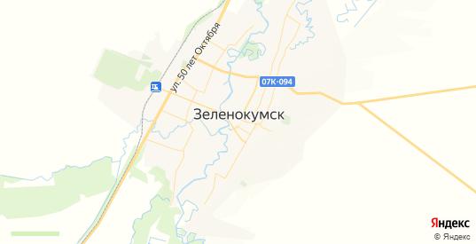 Карта Зеленокумска с улицами и домами подробная. Показать со спутника номера домов онлайн