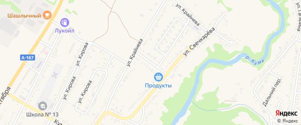 Переулок Свечкарева на карте Зеленокумска с номерами домов