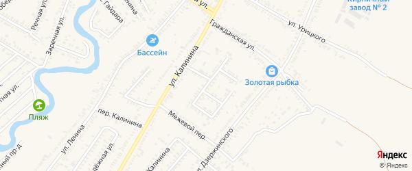 Южный переулок на карте Зеленокумска с номерами домов