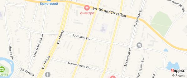 Почтовая улица на карте Зеленокумска с номерами домов