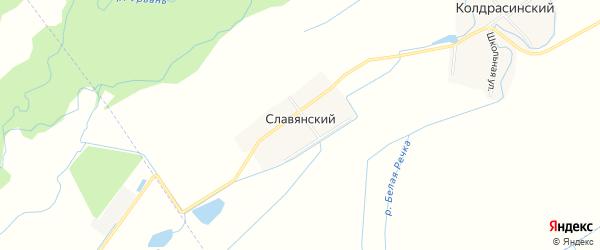 Карта Славянского хутора в Кабардино-Балкарии с улицами и номерами домов
