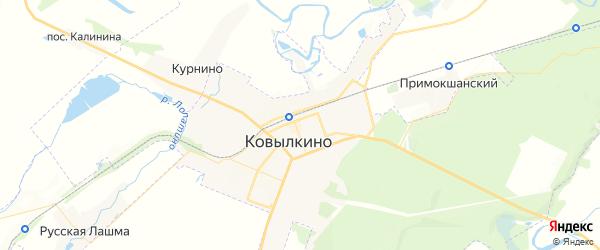 Карта Ковылкино с районами, улицами и номерами домов