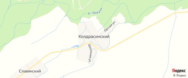 Карта Колдрасинского хутора в Кабардино-Балкарии с улицами и номерами домов