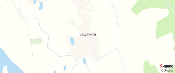 Карта деревни Задорихи в Архангельской области с улицами и номерами домов