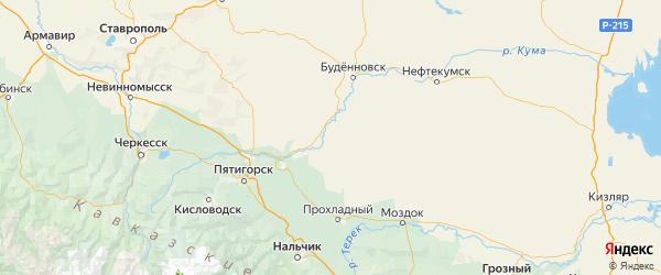 Карта Советского района Ставропольского края с городами и населенными пунктами